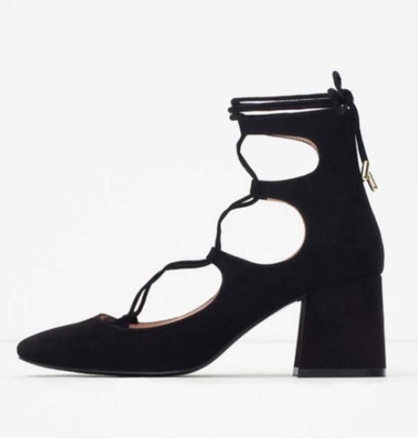 2017 novo estilo quadrado toe gladiador romano com tiras lace up bandagem cortar camurça tornozelo botas de verão calcanhar bloco robusto oxfords