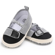 Soft Baby Girls Shoes Princess Striped Patch Girls First Wal