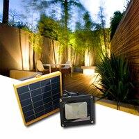 Waterdichte Automatische Dark Sensor Solar Led-schijnwerper 5 M draad 2200mA batterij outdoor Tuin Landschap Security Licht 8 uur