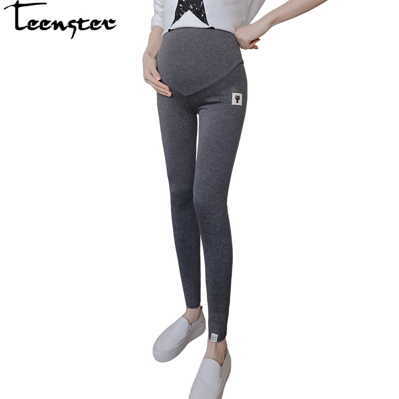 Teenster Maternity Clothing Cotton Pants For Pregnant Women Big Plus Size Maternity Trousers Maternidade Fashion Clothing