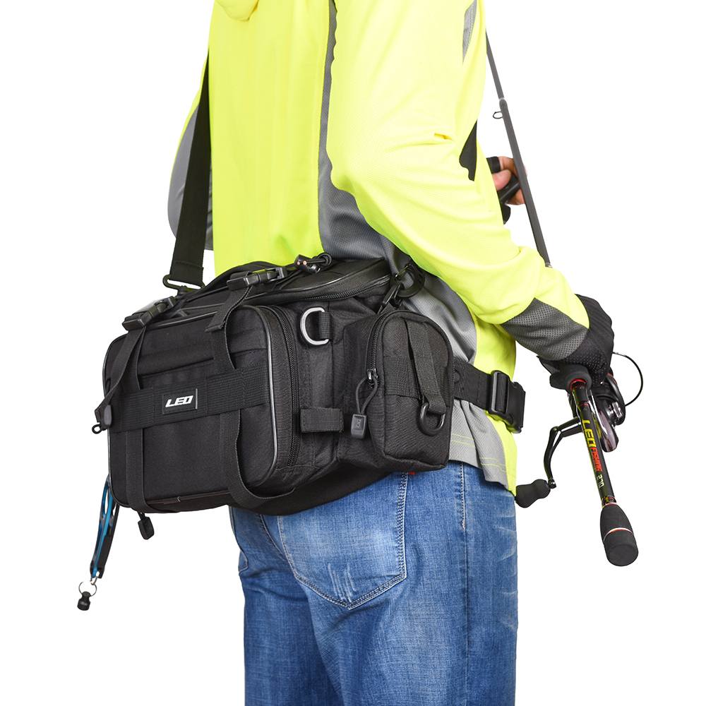 Leo Outdoor Sports Fishing Bag Large Capacity Multifunctional Bag Waist Pack Lures Fishing Tackle Gear Bags 40 17 20cm