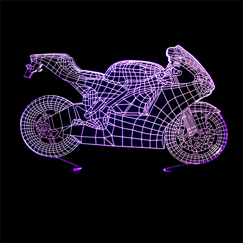motorcycle 3D night light (3)