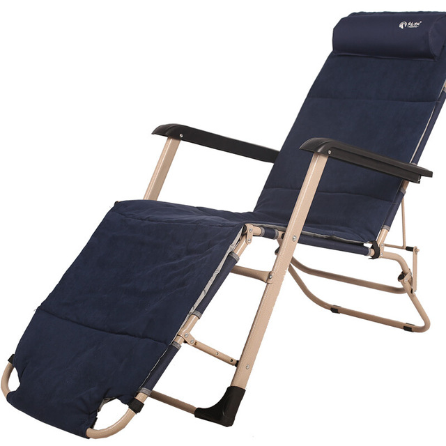 L04 Portable Beach Lounger Dual Use Folding Chair Strong Camping Military Cot Outdoor Beds With Adjule