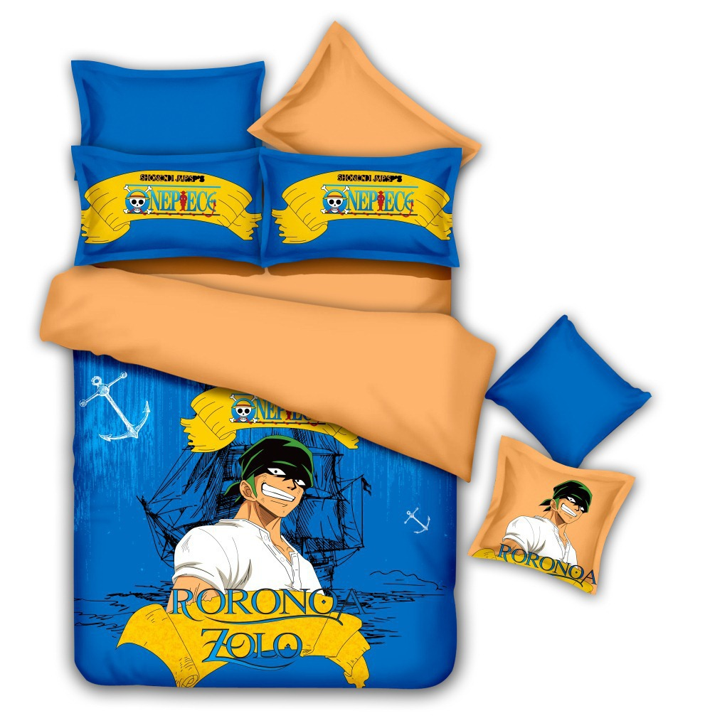 Funda Nordica One Piece.Designer Bedding Set Cotton One Piece Anime Bedding Luffy