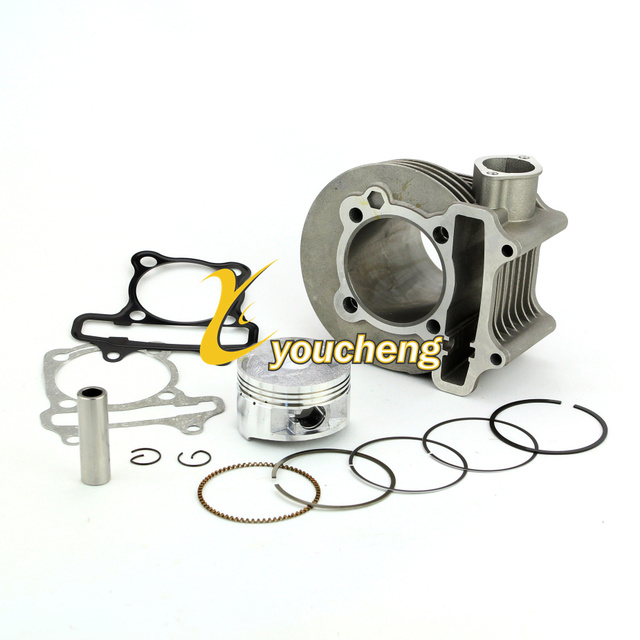 US $16 99 |61mm Big Bore Cylinder With Piston Kit GY6 180cc Chinese Scooter  Engine Modify 4T 157QMJ ATV Go Kart Moped Repair TG GY6161-in Engines from