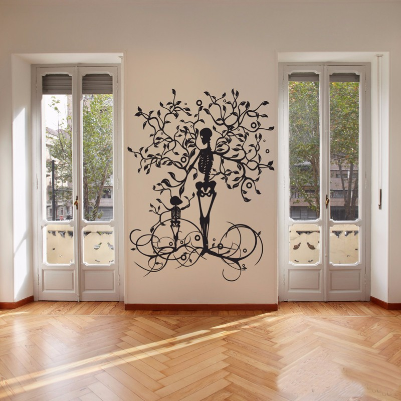 aeProduct.getSubject() & Halloween Decoration Skeleton Tree Wall Decal Vinyl Tree of Life ...