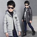 Детская одежда мальчик ватные куртки верхняя одежда средней длины утолщение хлопка-ватник детские зимние куртки и пальто