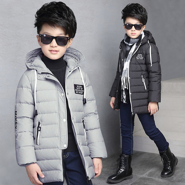 Children's clothing boy wadded jacket outerwear medium-long thickening cotton-padded jacket kids winter jackets & coats
