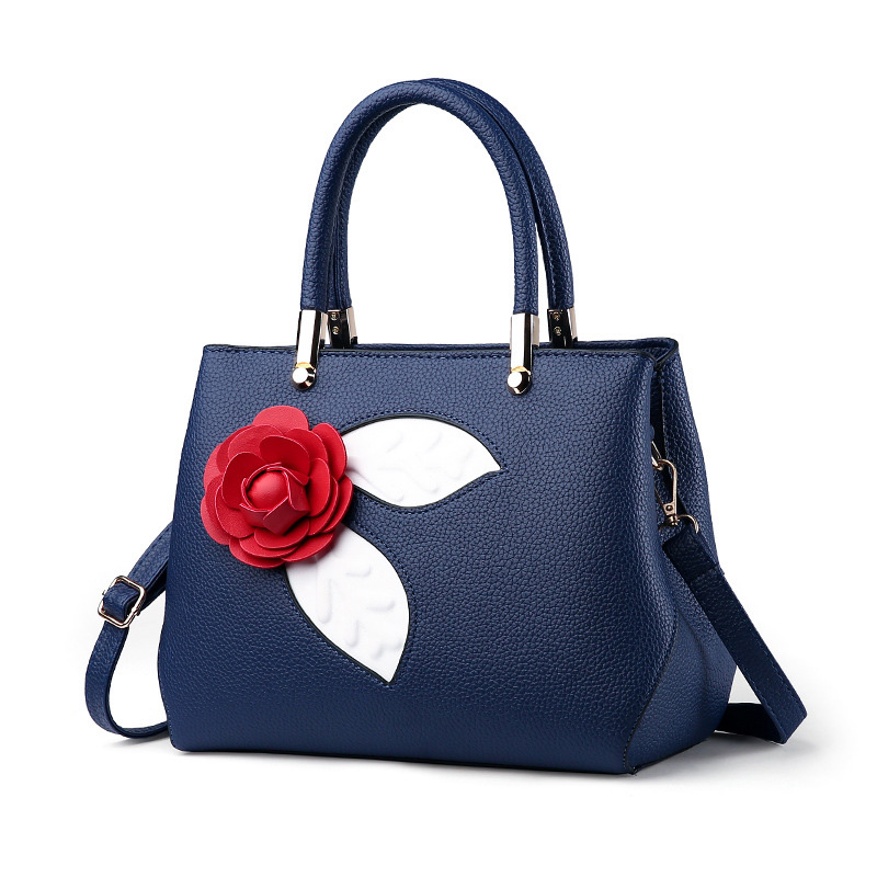 Fashion Red Roses Luxury Brand Designer Women Bag 2017 Fashion Ladies Handbags Woman PU Leather Famous Vintage Shoulder Bag