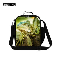 ZRENTAO thermal portable cooler bag for kids picnic food box container zipper meal package thermal crossbody shoulder bag