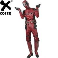 XCOSER Лидер продаж Дэдпул супергерой Уэйд Уилсон Косплэй костюм высокое качество Deluxe PU наряд Для мужчин прохладный фильм Костюмы для косплея
