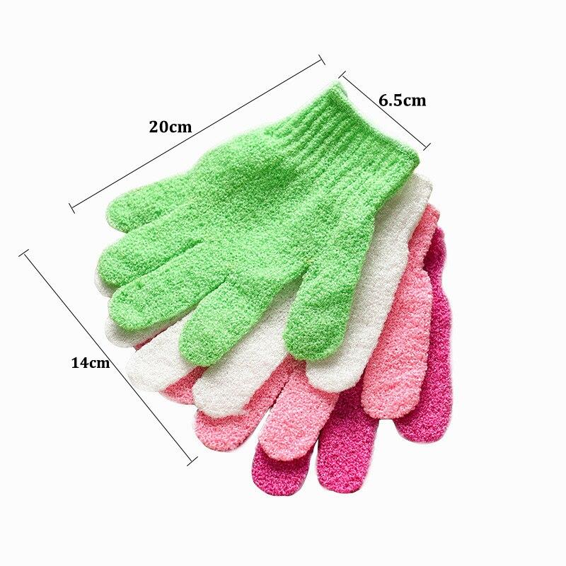 Bath Glove Exfoliating Wash Skin Spa Massage Body Scrubber Cleaner Shower Gloves Foam Bath Body Massage Glove Bathroom Tool