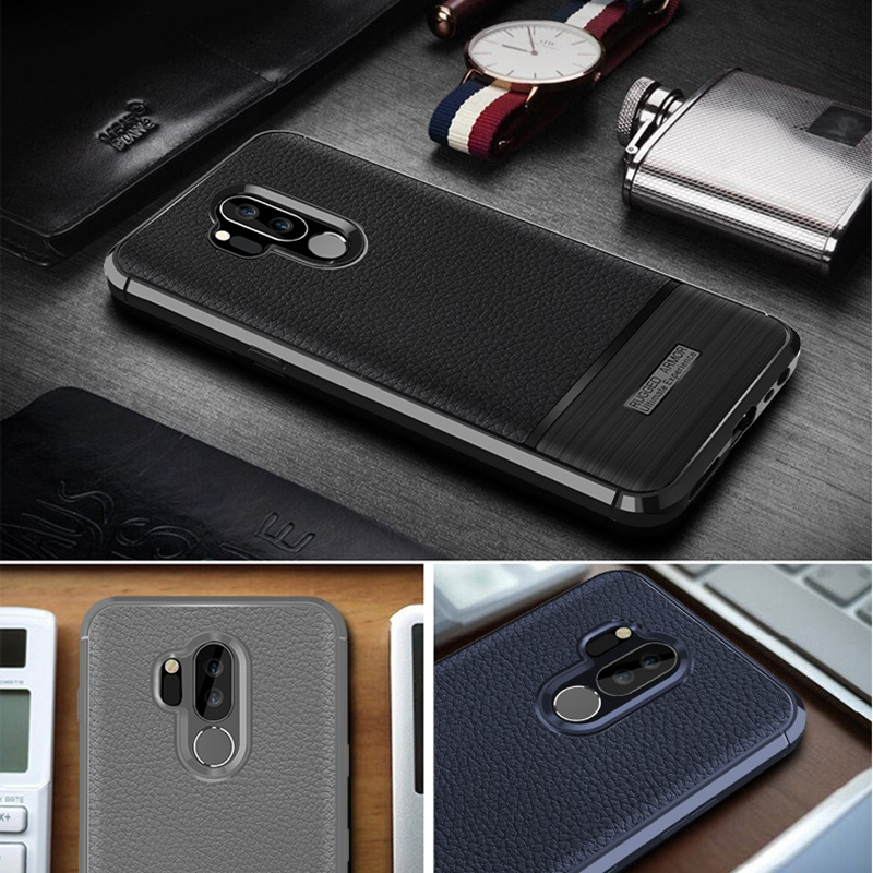 For LG G7 ThinQ Cover LG G7 ThinQ Case LG G7 Plus ThinQ Premium Original Silicone Leather Coated Protective  Soft Shell