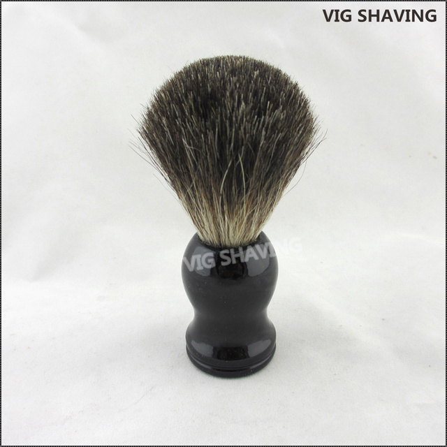 Black Wood Handle Black Badger Hair Shave Brush