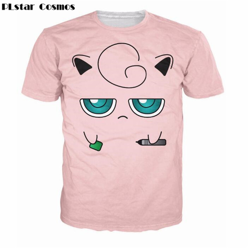 695e5f5ca1571 PLstar Cosmos Jigglypuff Face T-Shirt Pokemon Characters t shirt Summer  fashion clothing tees tops