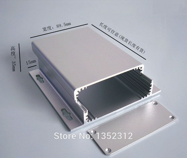 90 35 120mm aluminum box for electronic project power amplifier case