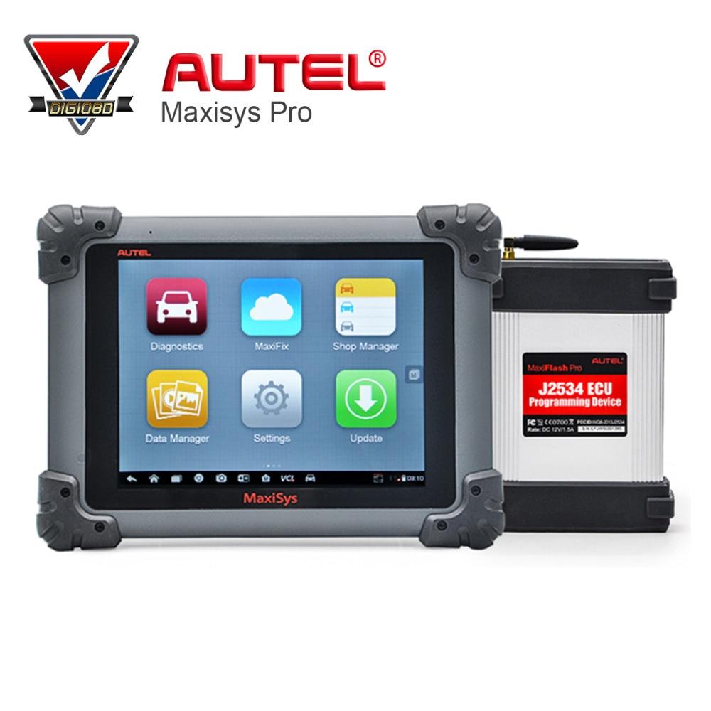 AUTEL MaxiSys Pro MS908P Automotive Diagnostic & ECU Programming System with J2534 reprogramming box Update Onlie Multi-Language