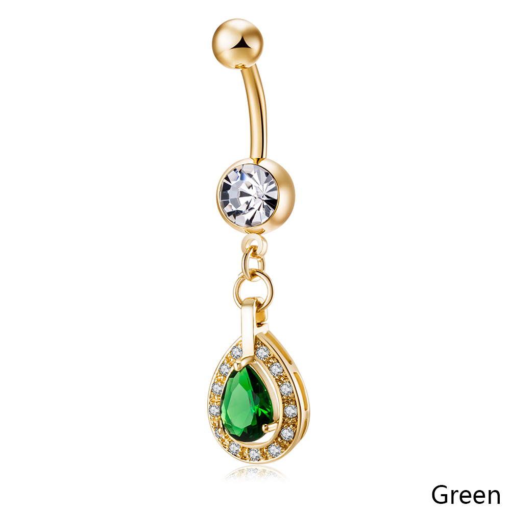 Simple Navel Ring Umbilical Nail Hot Woman Zircon High ...