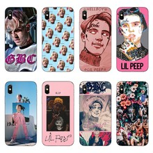 Pop rapper Lil Peep High quality clear Soft Silicone TPU Phone Case For iPhone 6 6s 8 Plus 7 X 10  Coque Cover