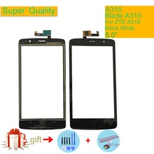 Touch Screen Digitizer For ZTE Blade A315 A 315 Touch Panel Touchscreen Lens Front Glass Sensor NO LCD A315 Replacement 5 0 for zte blade a315 lcd touch screen digitizer sensor outer glass lens panel replacement