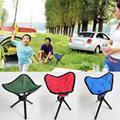 Portátil Folding Camping Caminhadas Dobrável Assento Stool Cadeira Tripé Para Pesca Festival Picnic CHURRASCO Praia cor aleatória