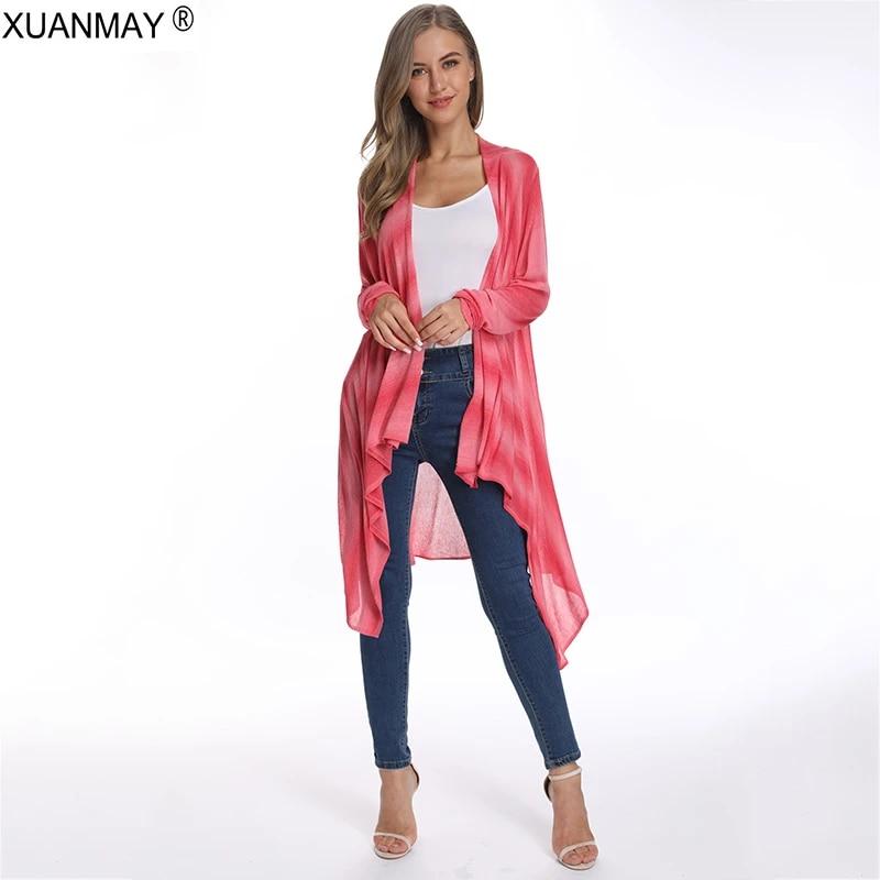 Summer Long Striped Cardigans