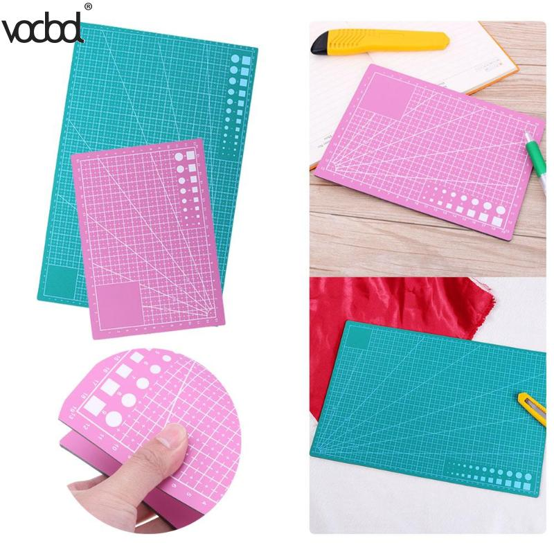 A3/A5 PVC Cutting Mat Board DIY Craft Patchwork Cut Pad Tools Self-healing Leather Cutting Board Escolar School Office Supplies 2018 pet transparent sticky notes and memo pad self adhesiv memo pad colored post sticker papelaria office school supplies