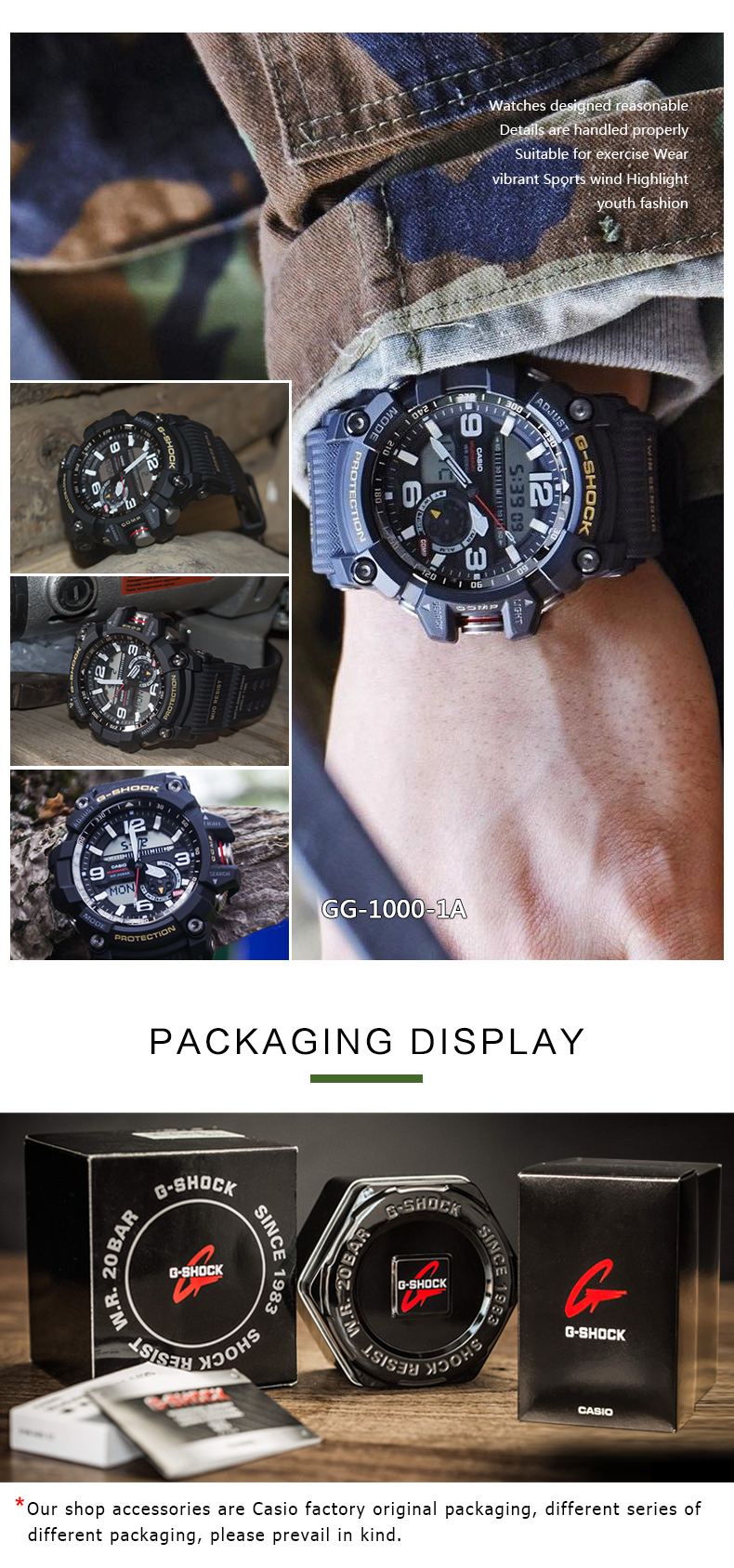 Buy Casio Watch G Shock Mens Quartz Sports Gg 1000 1a Shippedif You Have Special Requirementsplease Leave A Message Or Contact Customer Service