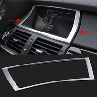 Car Styling Interior Dashboard GPS Navigation Control Panel Frame Cover Trim For BMW X5 X6 F15