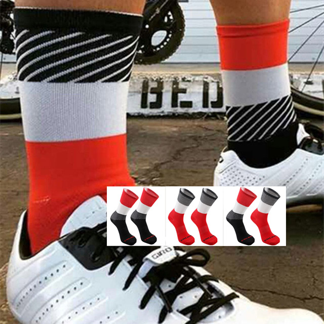 Sport Outdoor Cycling Socks Men Running Socks Breathable Comfortable Bikes Compression Socks