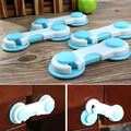 6pcs/10Ppcs/20pcs 1 set Todder Baby Child Kids Door Drawers Wardrobe Cabinet Safety Plastic Lock  Blue Cover