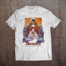 61c79b9b5 David Bowie Graphic Men T-shirt White Rock Tee Shirt Labyrinth Movie Sizes  S-