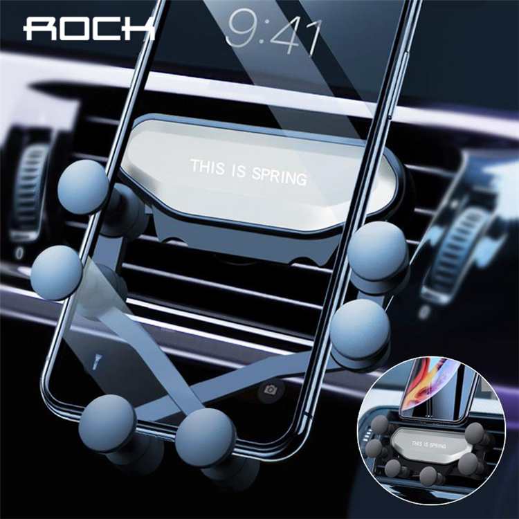 ROCK Universal Gravity Car Phone Holder Car Air Vent Mount Car Stand For IPhone 7 8 X For Samsung S8 S9 S10 Mobile Phone Holder