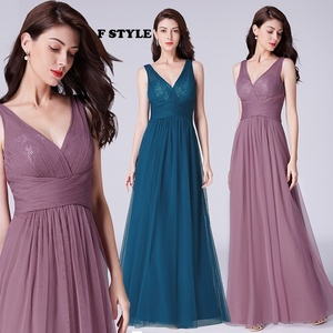 Image 5 - Bridesmaid Dresses 2020 Ever Pretty 5 Style Womens Fahion A line V Neck Elegant Long Chiffon Wedding Party Gowns