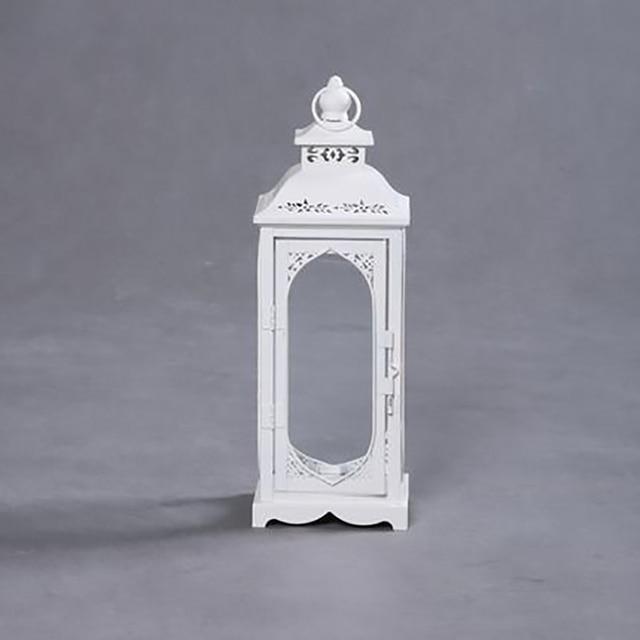 Europejska kreatywna świeca posiadacze Vintage latarnia dekoracje ślubne boże narodzenie Candelabro świeczniki domowe dekoracje WZF021
