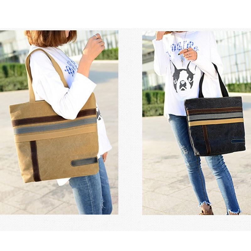 Bag Handbag Casual Canvas Totes Canvas Top-Handle Bag For Lady Simple Design Shoulder Bag Female Bolsas
