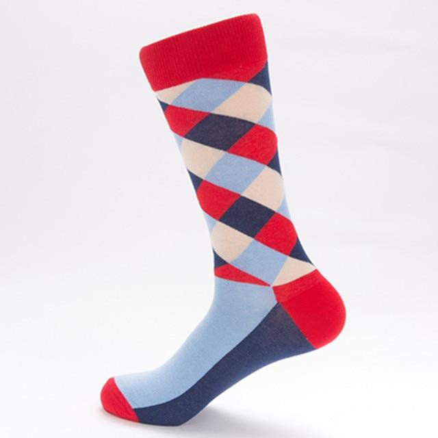 HSS Brand 5 pairs/lot Men's Colorful Pattern Business Socks Europe Big Size Socks Casual Dress Crew EU 40-47 Happy Socks Cotton Socks