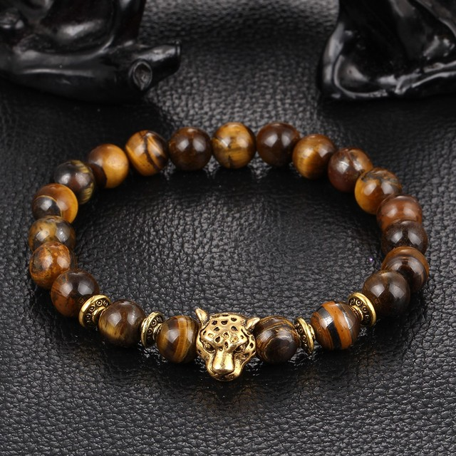 Gold Tiger Eye Bead Buddha Bracelet