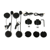 1200m 2PCS Wireless Bluetooth Motorcycle Helmet Intercom Interphone For 6 Riders BT Support 120km H