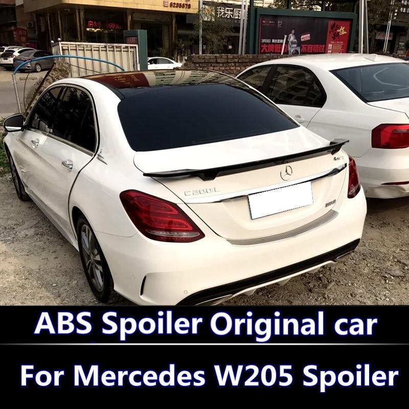 For Mercedes W205 Spoiler 4 Door Sedan C63 C180 C200 C250 C260 ABS spoiler For Mercedes W205 Spoiler 2015 2016 2017 2018
