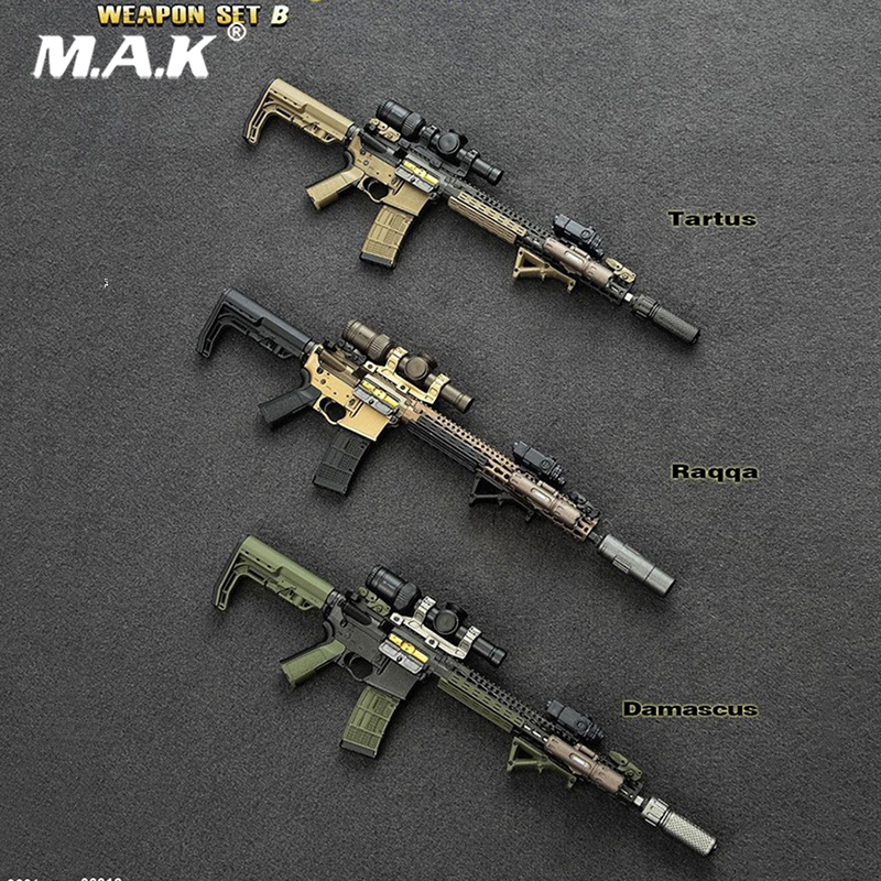 1/6 Scale Model Weapon Toys Easy&Simple 1/6 6016 PMC Weapon Set II Model Guns For 12 Inches Military Action Figure