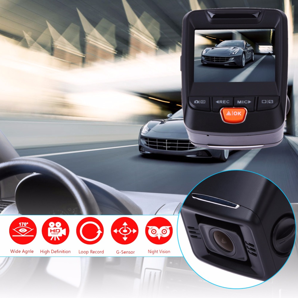 Newest 2.4 LCD 1080P Car Camera Recorder 170 Wide Angle Dashboard Car Dash Cam With G-Sensor WDR Night Vision Loop Recording mini car camera dual lens car dvr dash cam hd 1080p 170 wide angle with g sensor wdr loop recording and night vision