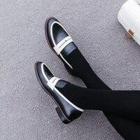 Женские туфли-оксфорды на плоской подошве, сезон весна-лето 2019, модные женские туфли из натуральной кожи на плоской подошве, броги, слипоны