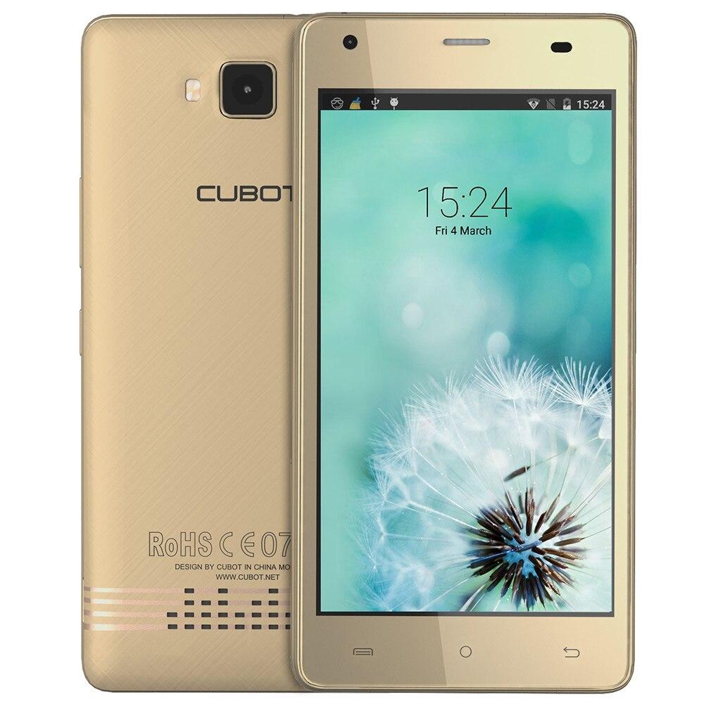 Цена за Эхо cubot смартфон android 6.0 5.0 дюймов mtk6580 quad core 1.3 ГГц мобильного телефона 2 г + 16 г 13.0mp hd экран 3 г разблокировать мобильный телефон
