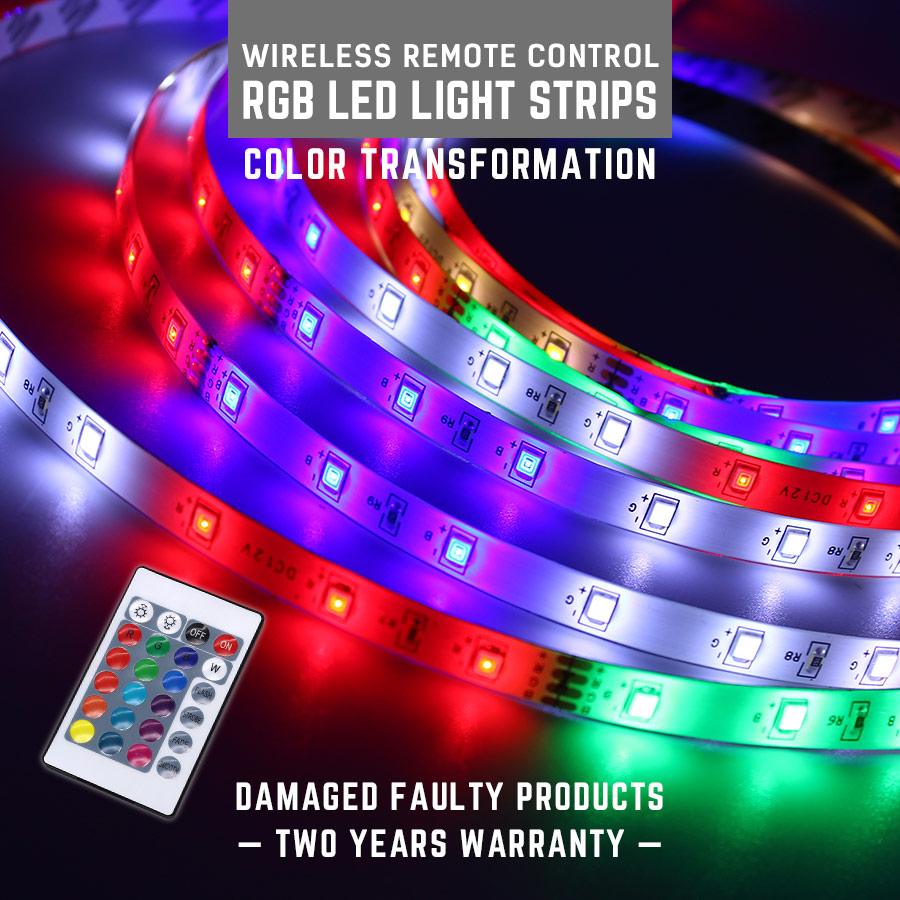 SMD2835 LED Strip Light DC12V 5M EU Plug RGB TV Back Light 16 Colors Remote Control LED Light Diode Ribbon Flexible Controller