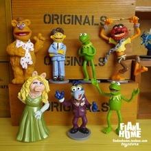pvc figure toys cartoon miss pig 7pcs/set
