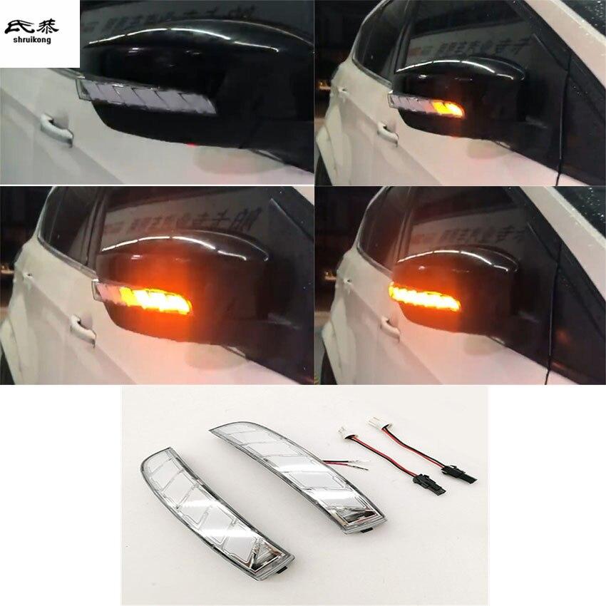 2pcs lot Dynamic running water Blinker Indicator Rearview Mirror Turn Light for 2013 2018 Ford KUGA