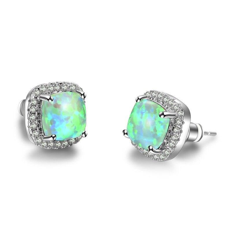 Silver Green Opal