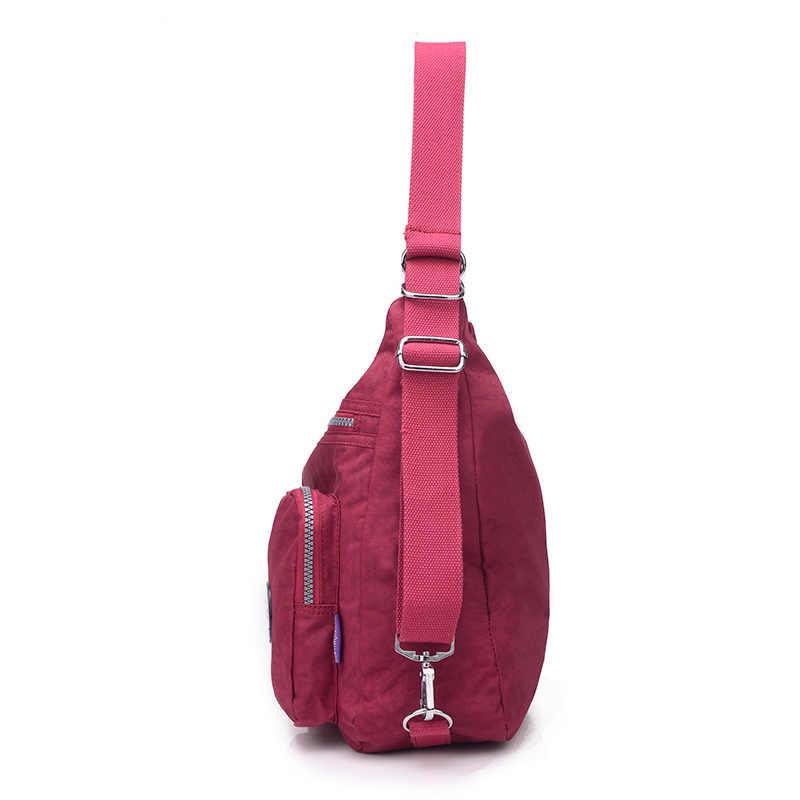 Модная женская сумка через плечо высокого качества нейлоновая сумка через плечо сумки женский рюкзак водонепроницаемые школьные сумки