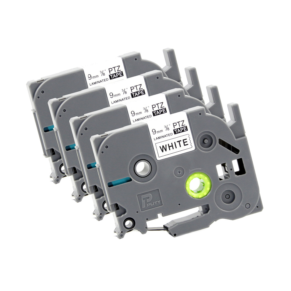 5x  Label Tape 9mm für BROTHER P-Touch TZ-221 TZE-221